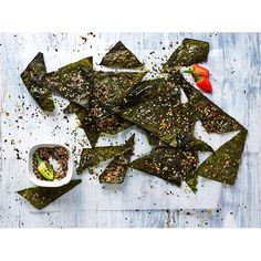 Toasted nori chips recipe - By Australian Women's Weekly, Get creative in the kitchen and whip up some of these deliciously crunchy toasted nori chips! A great idea for healthy snacking!