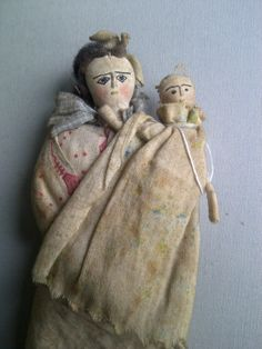 Vintage cloth doll with baby ~ Repinned by-#FederalFinancialGroupLLC #FFG #FFG2 ffg2.com