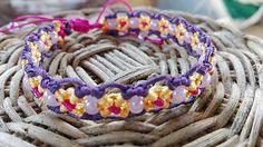 Marisol - letný fialový náramok macramé