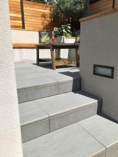 Porcelain Steps Outdoor Furniture Sets, Outdoor Decor, Bespoke Design, Garden Design, Porcelain, Stairs, Patio, Building, Home Decor