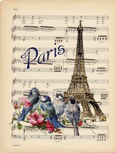 Eiffel Tower & Paris in the Springtime Images Vintage, Vintage Pictures, Vintage Cards, Vintage Paper, Vintage Postcards, Decoupage Vintage, Decoupage Paper, Tour Eiffel, Paris Eiffel Tower