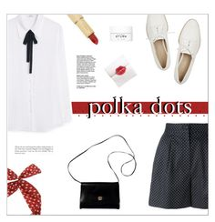 """Polka Dots"" by hiddlescat ❤ liked on Polyvore featuring Dolce&Gabbana, MANGO, Dr. Barbara Sturm, Givenchy, Pour La Victoire, Kate Spade, vintage, PolkaDots, dots and highwaist"