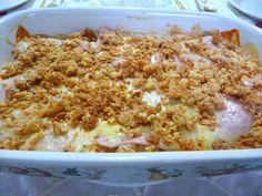 SPLENDID LOW-CARBING BY JENNIFER ELOFF: MUENSTER CHICKEN AND HAM CASSEROLE - Simple recipe, high on taste.  Love that! Start with a rotisserie chicken. Visit us at: https://www.facebook.com/LowCarbingAmongFriends