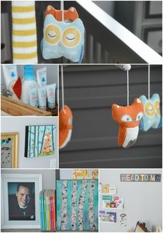 Woodland and Fox Decor in a Rustic Nursery - adorable!