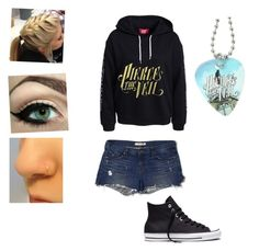 """""""🤘🏻😎❤️"""" by brookeziefle ❤ liked on Polyvore featuring J Brand and Converse"""