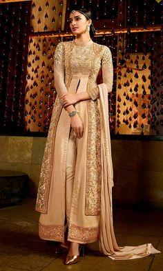 Buy Beige Embroidered Wedding Party Long Suit (SKU Code : SUELEO9803) online at…