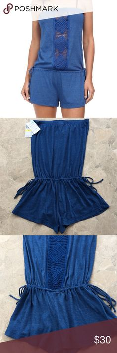 NWT Lucky Brand Swimwear Romper SZ M/L Gorgeous Lucky Brand Swimwear Romper size M-L. BNWT with ties at sides to adjust waist! Super-cute - my loss for never wearing!!! Lucky Brand Swim Coverups