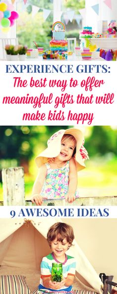 Experience gifts for kids: Discover 9 awesome gift ideas that will make kids happy and will offer them meaningful experiences! Birthday Gifts For Kids, Christmas Gifts For Kids, Christmas 2019, Christmas Ideas, Birthday Ideas, Birthday Cards, Toddler Gifts, Kids Gifts, Fun Gifts