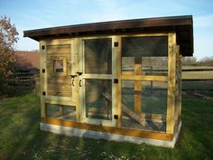 """Chicken Coop """"The Reverse Wichita""""  from backyardchickens modified by informationcupboard.com"""