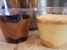 Dirt Cups and Sand Cups. Dye vanilla pudding blue