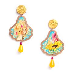 For those who understand summer...Le quattro stagioni earrings - Estate (Summer)