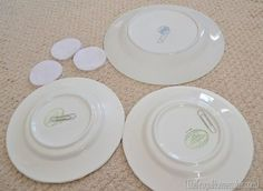 Hanging plates on the wall (with DIY FREE plate hangers) & Without plate hangers | Plate hangers Hanger and Walls