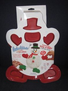 Pull-A-Part Snowman Holiday Silicone Cupcake Mold Cake Baking Pan * You can get more details at : bakeware
