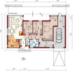 DOM.PL™ - Projekt domu AC Eryk G1 CE - DOM AF4-10 - gotowy koszt budowy Lampang, Design Case, Planer, 30th, House Plans, Floor Plans, House Design, How To Plan, Building