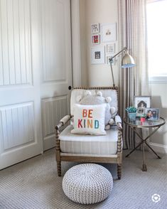 How to style the ultimate kids space. Deaign ideas for girls bedroom. Nursery Room Decor, Girl Nursery, Girls Bedroom, Bedroom Decor, Modern Farmhouse Design, Daughters Room, Baby Boy Nurseries, Kid Spaces, Baby Decor