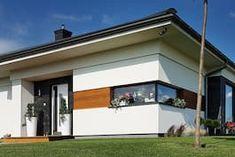 Dom w bodziszkach Bungalow House Design, Modern House Design, Design Case, Garage Doors, Farmhouse, Outdoor Decor, Home Decor, Country Homes, Kitchen Modern