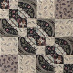 The Carrie Nation Quilt by  Becky Brown.  Love the little bow ties on the diagonal like that!