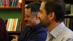 Joaquín Berges, autor de 'Un estado del malestar', obra premiada en los XII Premios Cálamo. Gervasio Sánchez, cuya antología ha recibido el Premio Extraordinario.