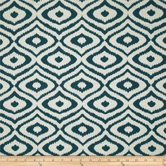 Eroica Native Jacquard Teal from @fabricdotcom Refresh and modernize any piece of furniture with this heavyweight jacquard fabric, perfect for window treatments, accent pillows, upholstering furniture, headboards and ottomans. Colors include off white and teal.