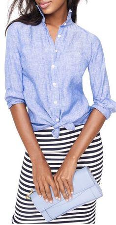 chambray + stripes.