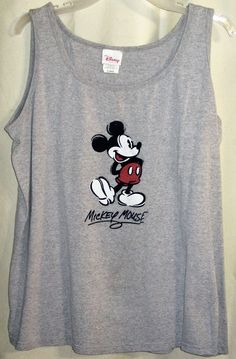 FREE U.S. Shipping! Disney Store Mickey Mouse Tank Top Or Women's Shirt! XL.