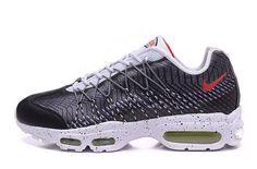 official photos 92e2a 3f57c Newest Nike Air Max 95 Hyp Prm 20 Anniversary Safari Black Dark Grey White  Red Shoe