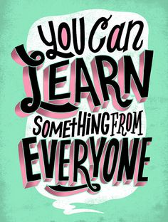 Learn Something by Jay Roeder, freelance artist specializing in illustration, hand lettering, creative direction & design Typography Quotes, Typography Prints, Lettering Design, Retro Typography, Typography Alphabet, Typography Layout, Creative Typography, Typography Poster, The Words
