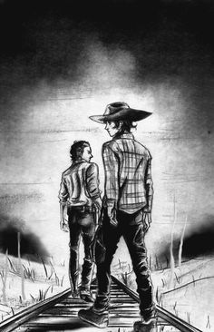 the walking dead season 4 don't look back by zelldinchit on DeviantArt Walking Dead Season 4, Walking Dead Zombies, Fear The Walking Dead, Percy Jackson, Rick And Carl, Dont Look Back, Comic, Dead Inside, Stuff And Thangs