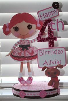 Lalaloopsy Birthday Party Toffee Cocoa Cuddles Custom Centerpiece. $18.50, via Etsy.