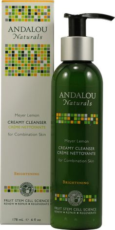 Andalou Naturals Creamy Cleanser For Combination Skin Meyer Lemon. This whole line of products is great. Really nice price point. Nothing but good stuff in these bottles.