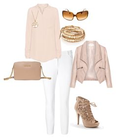 """""""Untitled #19"""" by k-titty ❤ liked on Polyvore featuring ESCADA, iHeart, Chan Luu, MICHAEL Michael Kors, Oliver Peoples, LC Lauren Conrad, Apt. 9 and Zizzi"""