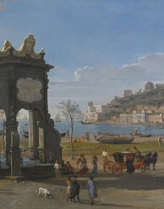 Gaspar van Wittel, called Vanvitelli NAPLES, A VIEW OF THE RIVIERA DI CHIAIA