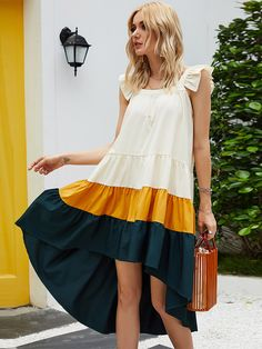 Simple Dresses, Pretty Dresses, Beautiful Dresses, Casual Dresses, Short Dresses, Summer Dresses, Hi Low Dress Casual, Chic Outfits, Dress Outfits