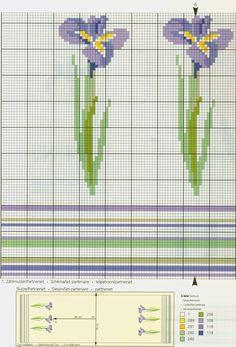 Iris free cross stitch pattern