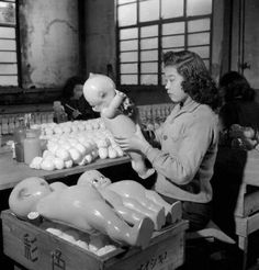Vintage... Manufacturing Kewpie Dolls, Japan. Undated. S)...I had a small kewpie as a very young child