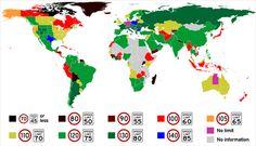 Harta limitelor maxime de viteză pe drumurile din toată lumea | Ziarul Financiar