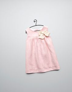 dress with bow appliqué - Dresses - Baby girl (3-36 months) - Kids - ZARA United States
