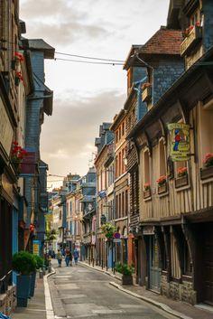 Street in Honfleur, France