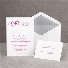 Color of Romance - Invitation...kinda like it, but it will be in purple of coruse
