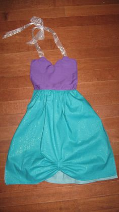So much easier than changing clothes! They go right over their clothes...Perfect for Christmas! Little Mermaid Dress Up Apron by LeighMarieBoutique on Etsy, $18.00