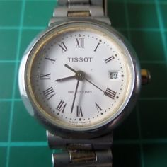 TISSOT SEA STAR Quartz - Guaranteed Genuine Swiss made ladies wrist watch, untouched, stainless steel, new battery - beautiful. by EWcoLondon on Etsy
