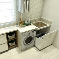 Optimize your small space & learn trick how to organize your dryer sheets, laundry room cabinet & other laundry room essentials Laundry Room Cabinets, Small Laundry, Paint Colors For Living Room, Small Room Bedroom, Laundry Room Design, Küchen Design, Home Organization, Living Room Designs, Kitchen Decor