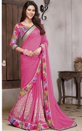 Picture of Splendorous Pink Color Marvelous Saree