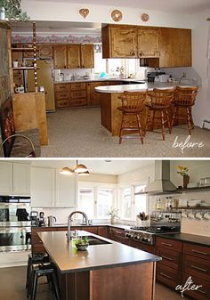 Kitchen Before & After: A Budget-friendly Choice.