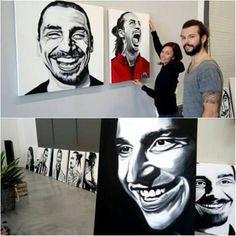 Existe una exhibición de Arte en Suecia dedicada exclusivamente a Zlatan Ibrahimovic. #DaretoZlatan