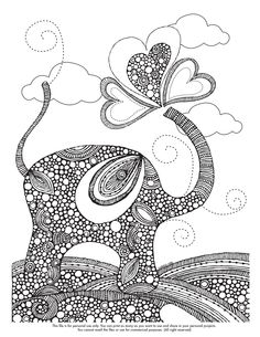Happy Coloring Monday! Here your coloring page of the week http://valentinadesign.com/images/printables/elephat_10_21_VH.pdf Enjoy it!