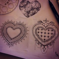 Little fancy hearts id like to tattoo  Stop by The projects Tattoo or email me…