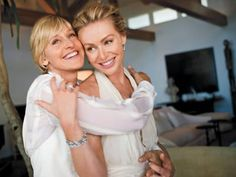 I honestly believe that Ellen is one of the loveliest, most sincere, hilarious people on the planet. And Portia is obviously stunning. Being happy is beautiful.