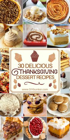 Thanksgiving Desserts: 30 to Make for the Big Party These easy Thanksgiving dessert recipes are THE BEST I've seen so far! If you're looking for after dinner options for large groups, these will work great for you! Dessert Party, Party Desserts, Holiday Desserts, Holiday Baking, Holiday Recipes, Christmas Baking, Fall Recipes, Thanksgiving Desserts Easy, Fall Dessert Recipes