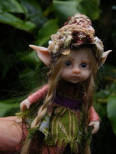 sweet posable pixie fairy fairie ooak by throughthemagicdoor. @Melissa Squires Squires Squires Jones, her face looks a little like Marigold's
